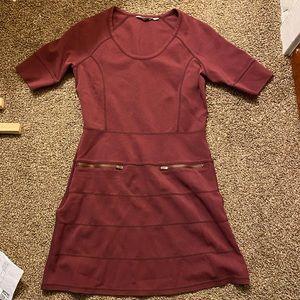 Women's Athleta Casual Dress Maroon